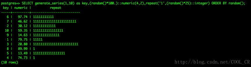 使用postgresql 模拟批量数据插入的案例