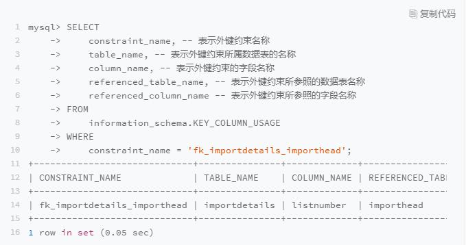 MySQL外键设置的方法实例